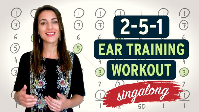 2-5-1 ear training workout