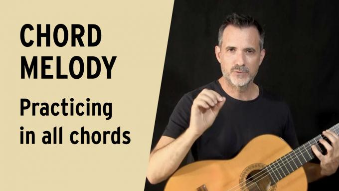 Chord melody practice in all chords