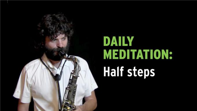 IFR Exercise 1 Daily Meditation with half steps on tenor sax