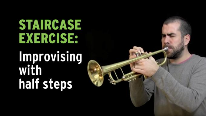 IFR improvisation exercise with the chromatic scale on trumpet
