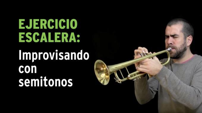 Ejercicio de improvisación con la escala cromática para trompeta