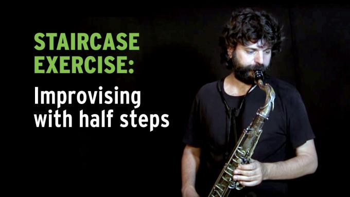 IFR Staircase exercise with half steps on tenor sax