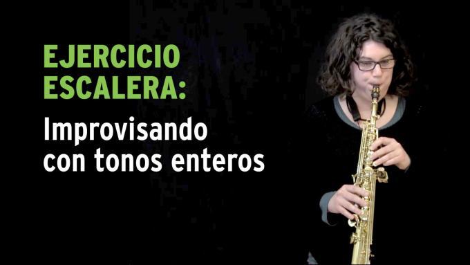 Ejercicio de improvisación con tonos enteros para saxo soprano