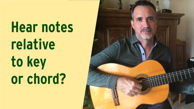 Q&A - Hear notes relative to key or chord?
