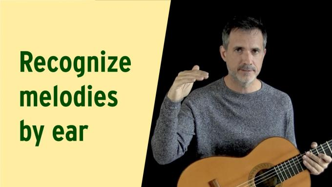 How to recognize melodies by ear using the key of the music