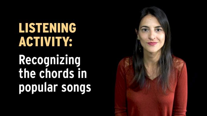 Listening activity: Recognizing the chords in popular songs