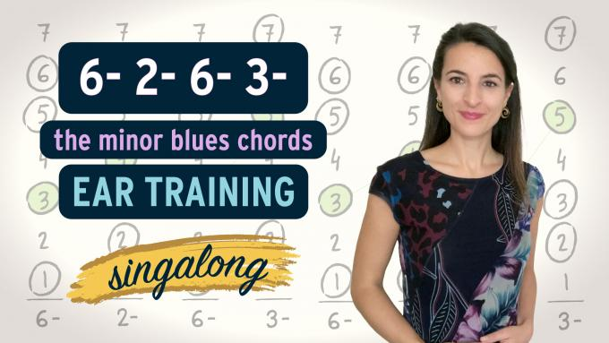 Minor blues ear training