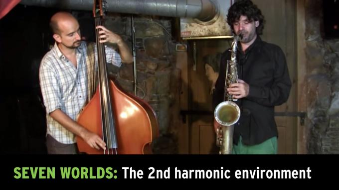 Modal improvisation with tenor sax and upright bass