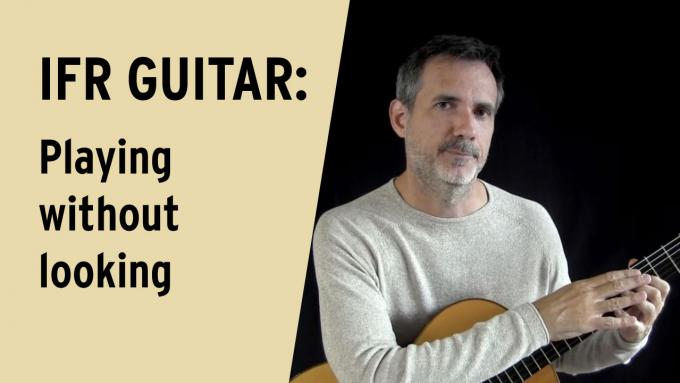 Learn to play without looking at the fretboard