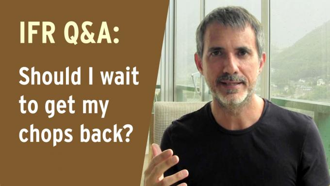 Q&A - Should I wait to get my chops back?