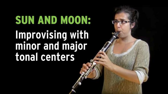 Improvisation exercise 'Sun and Moon' in major and minor tonal centers