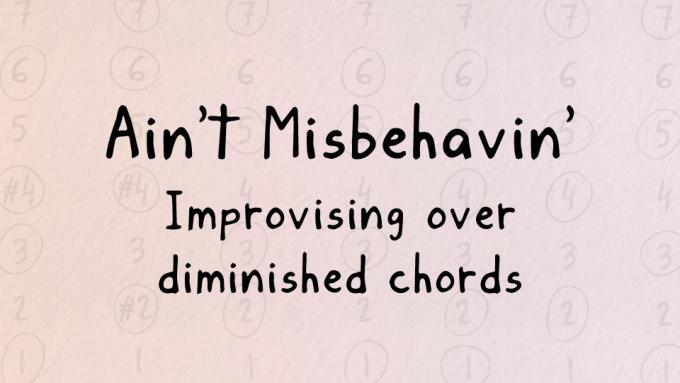 Harmonic analysis of Ain't Misbehavin'