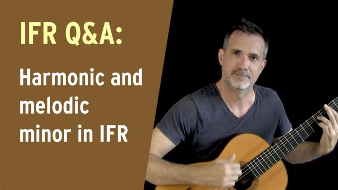 Harmonic and melodic minor scales in IFR