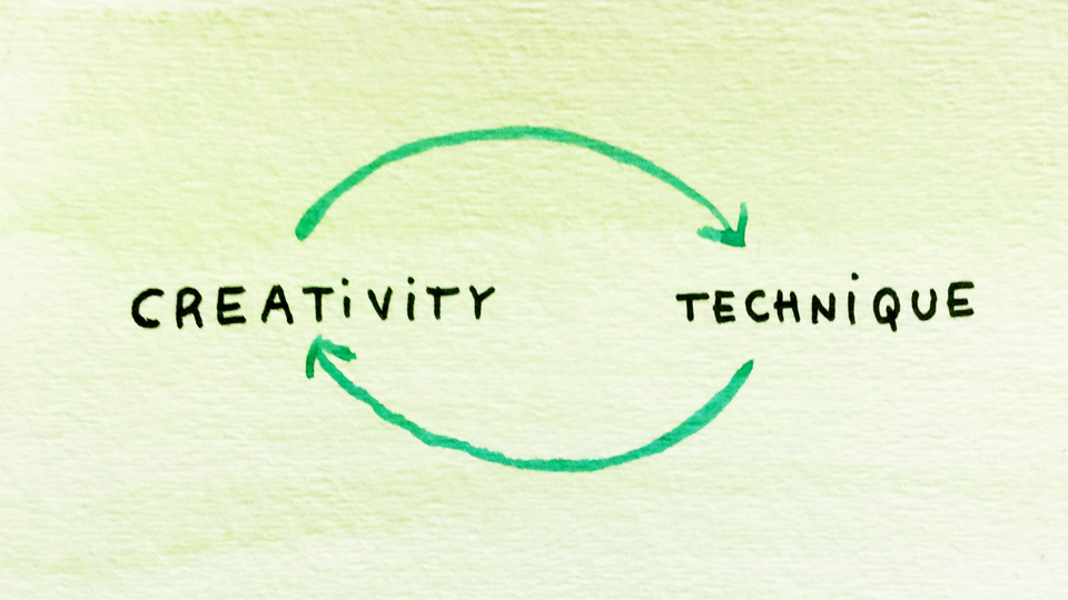 The relationship between technique and creativity