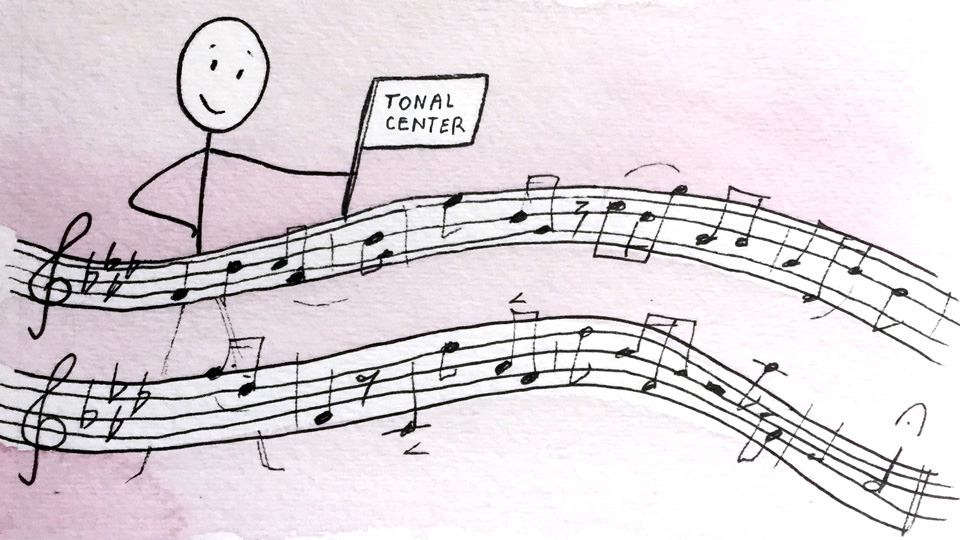 How to recognize a song's tonal center